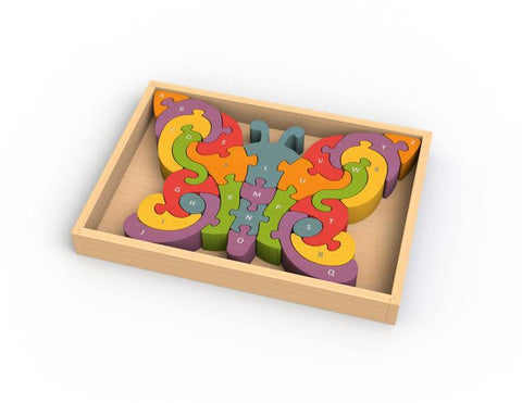 BeginAgain Butterfly A - Z Learning Counting Puzzle - New Baby New Paltz