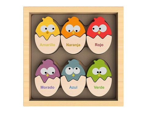 BeginAgain Color N Egg Bilingual Spanish Sorter Puzzle - New Baby New Paltz