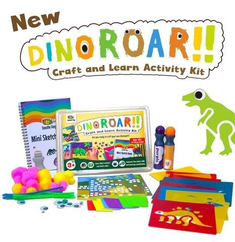 Doodle Hog Dino Kit - Dinosaur Craft Kit - 100 pieces