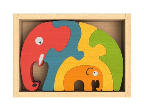 BeginAgain Elephant Family Puzzle