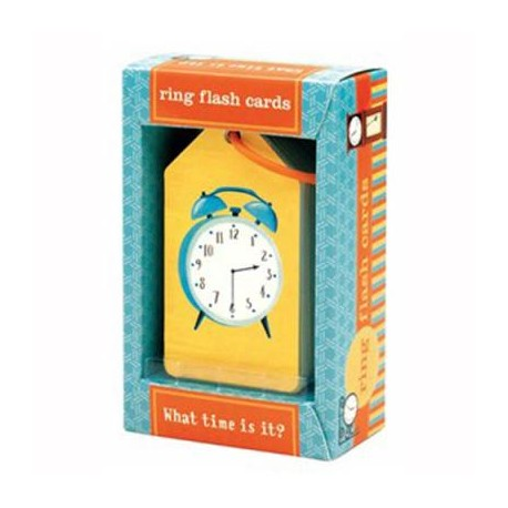 Mudpuppy Ring Flash Cards What Time is It?