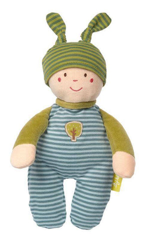 Sigikid Organic Gnome Cuddle Toy - blue - New Baby New Paltz