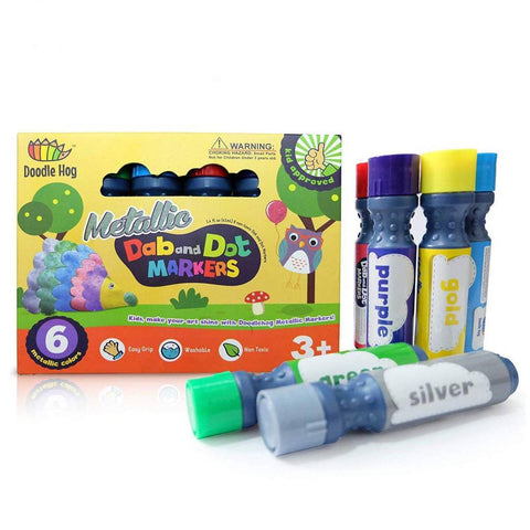 Doodle Hog Dab & Dot Markers - Metallic - Set of 6