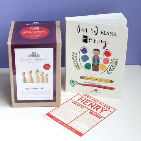 Goose Grease (Not So) Blank Henry and DIY Family Kit - New Baby New Paltz