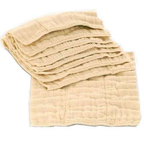 OsoCozy Regular Unbleached Cotton Prefolds 12 pk - New Baby New Paltz