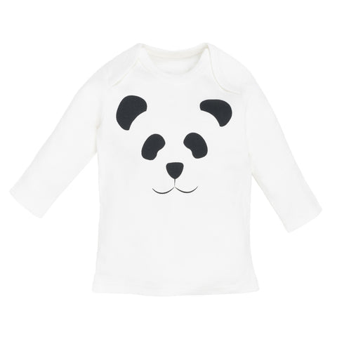 Under The Nile Long Sleeve Lap Shoulder T-Shirt - Panda Print