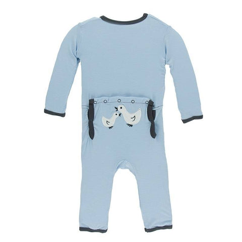 Kickee Pants Applique Coverall -Newborn, Snap - New Baby New Paltz