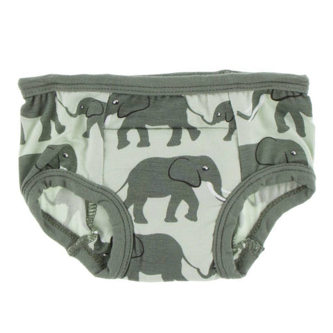 Kickee Pants Training Pants Set Aloe Elephant & Suede Bead 3T/4T - New Baby New Paltz