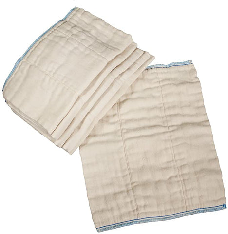 OsoCozy Infant Unbleached Cotton Prefolds 12 pk - New Baby New Paltz