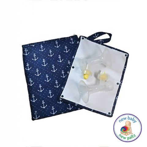 Sarah Wells Pumparoo Wet Dry Bag w/ Staging Mat for Breast Pump Parts - New Baby New Paltz