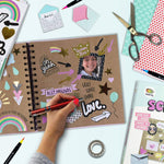 Create your own in a  hardcover blank journal, 2 trendy washi tape rolls, 3 sticker sheets, 4 mini envelopes and 5 patterned papers.
