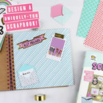 A complete kit: 2 trendy washi tape rolls, 3 sticker sheets, 4 mini envelopes and 5 patterned papers..