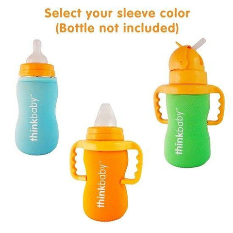 Thinkbaby Neoprene Thermal Bottle Sleeve- Orange - New Baby New Paltz
