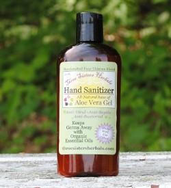 Three Sisters Herbals Germ Away Aloe Vera Hand Sanitizer Gel
