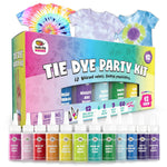Doodlehog Easy Tie Dye Party Kit for Kids, Adults, and Group | 12 Pack - New Baby New Paltz
