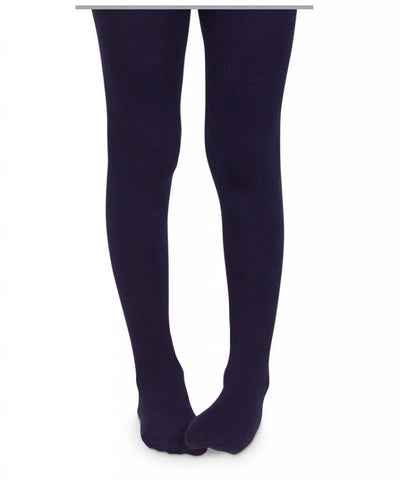 Jefferies Pima Cotton Tights Navy - New Baby New Paltz