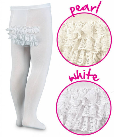 Jefferies Ruffle Tights White