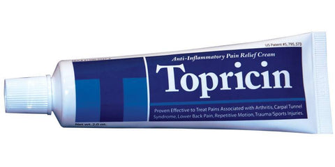 Topricin Pain Relief and Healing Cream Tube 2 oz - New Baby New Paltz