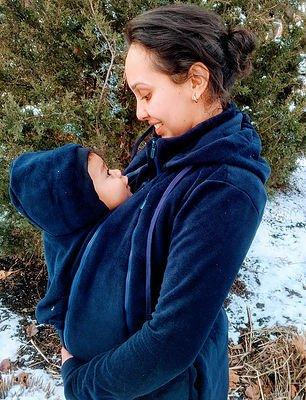 Tasku Babi Whole Mama Fleece- Navy - New Baby New Paltz