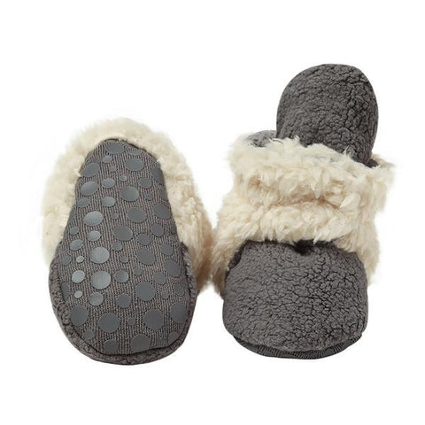 Zutano Cozie Fleece Furry Lined Gripper Booties - New Baby New Paltz