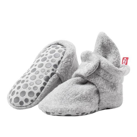 Zutano Cozie Fleece Gripper Booties - New Baby New Paltz