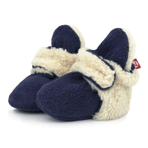 Zutano Cozie Fleece Furry Lined Booties - New Baby New Paltz