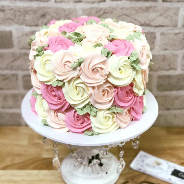 Buttercream Rosette Birthday Cake