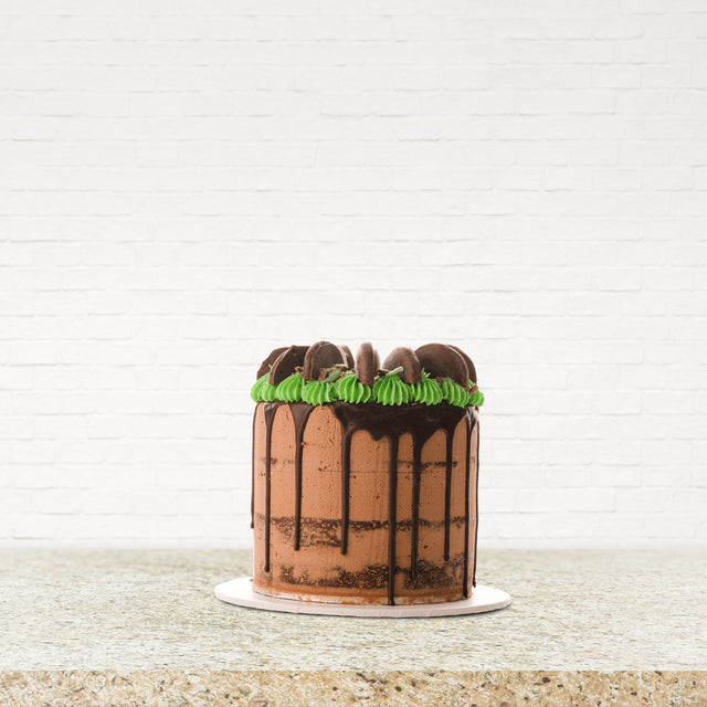 8 Inch Gourmet Chocolate Mud Mint Drip Cake