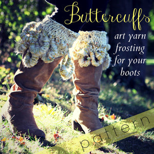 BUTTERCUFFS frosting for your boots (Free Knitting Pattern)