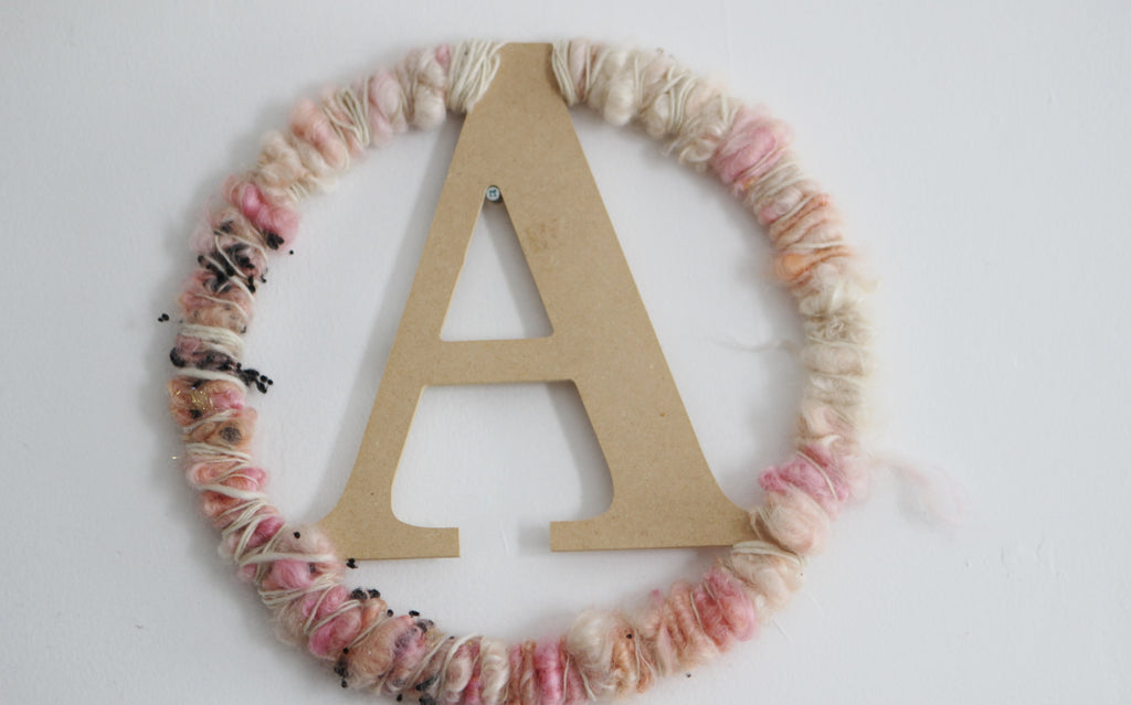 MONOGRAM Wall Decor (Free Handspun Project)