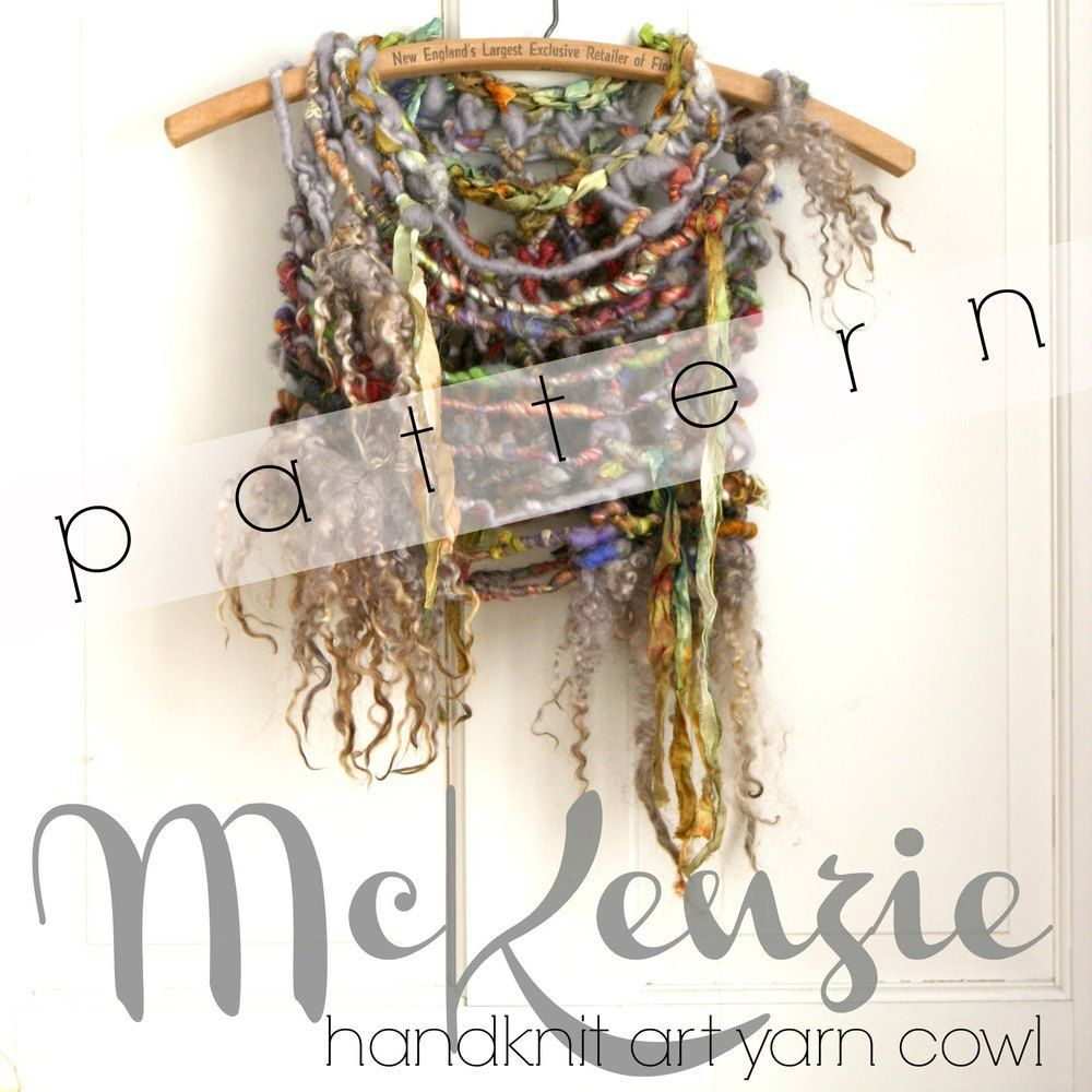 MCKENZIE Art Yarn Cowl (Free Knitting Pattern)
