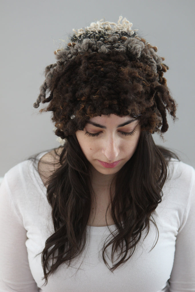 FLUID Hat (Free Handspun Knitting Pattern)