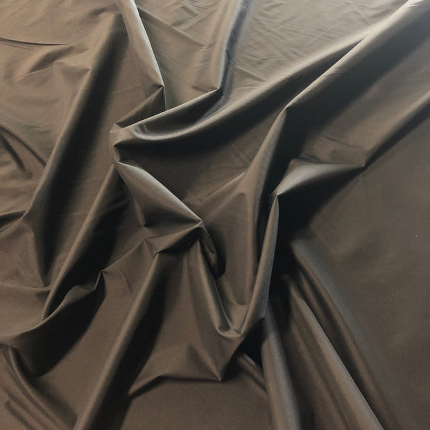 Taffeta with Mech Stretch/Ripstop Nylon - Black - 1/2 meter - FABCYCLE shop