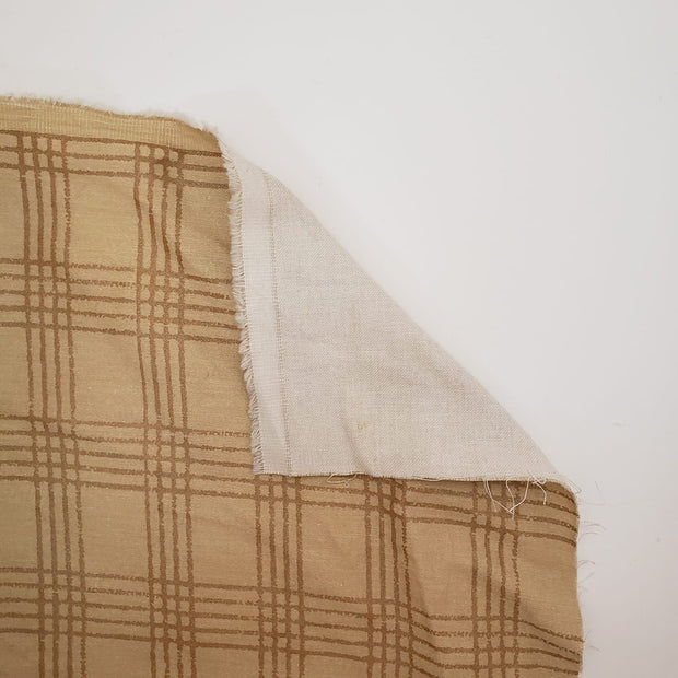 Chex Mix Plaid - Cotton Woven Upholstery - Beige - 1/2 Meter