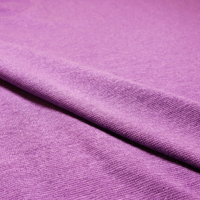 Bamboo Cotton Stretch Blend Mini Ribbed -  Purple Purple  - 1/2 meter