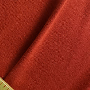 Bamboo Cotton Stretch Blend Mini Ribbed -  Stop Light Red  - 1/2 meter