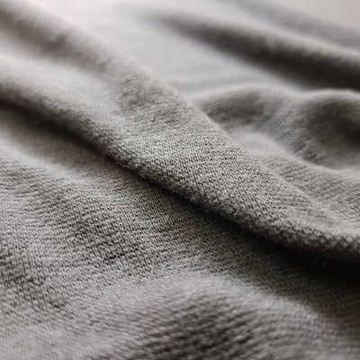 Bamboo Cotton Stretch Blend Mini Ribbed -  Slate - 1/2 meter