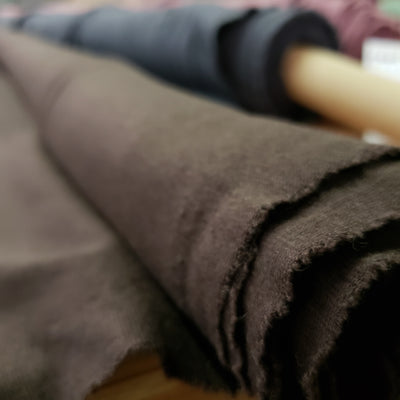 Bamboo Cotton Stretch Blend Mini Ribbed -  Brown 12 - 1/2 meter