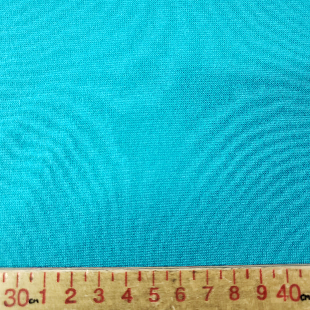 Bamboo Cotton Stretch Blend Mini Ribbed -  New Blue - 1/2 meter