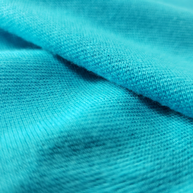 Bamboo Cotton Stretch Blend Mini Ribbed -  New Blue - 1/2 meter - FABCYCLE shop