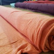 Organic Cotton Bamboo Slub - Hot Pink Coral - 1/2 meter - FABCYCLE shop