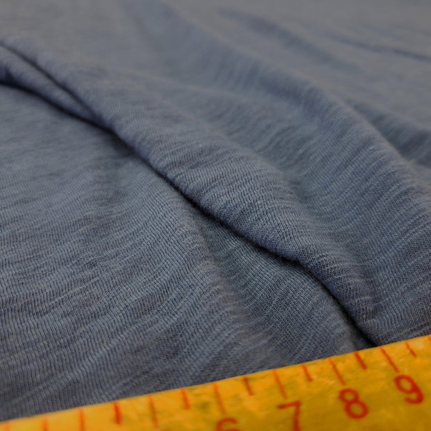 Organic Cotton Bamboo Slub - Sleepy Blue - 1/2 meter - FABCYCLE shop