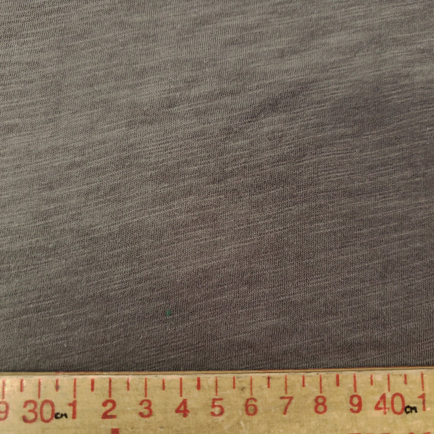 Organic Cotton Bamboo Slub - Uncommitted Brown Grey - 1/2 meter