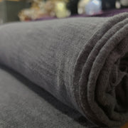Organic Cotton Bamboo Slub - Charcoal- 1/2 meter - FABCYCLE shop