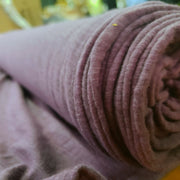Organic Cotton Bamboo Slub - Smoked Purple - 1/2 meter - FABCYCLE shop