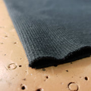 Cotton Ribbed Tubular - Black - 1/2 meter