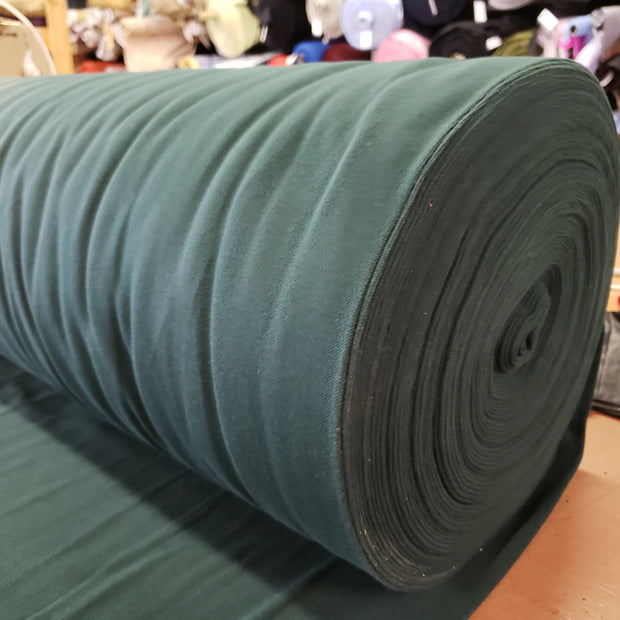 Cotton Polo Tubular - Forest Green - 1/2 meter