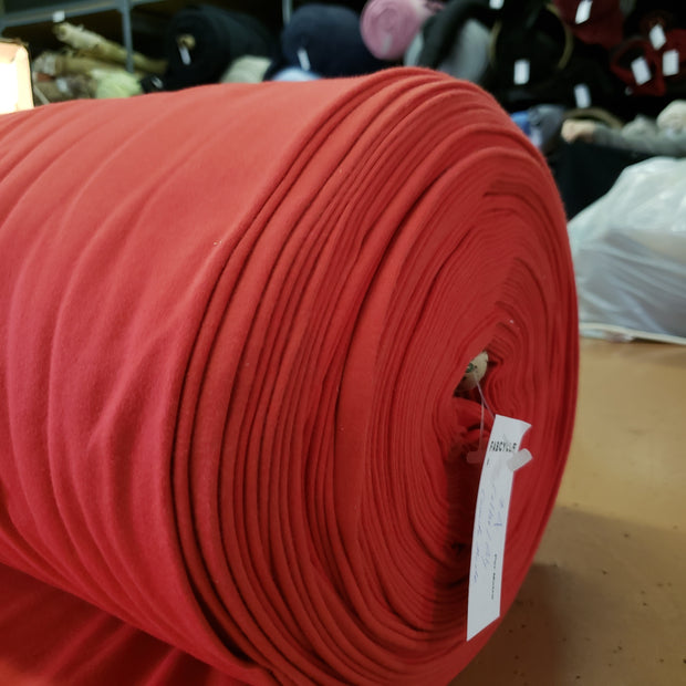 Soft Cotton Poly tubular - Red- 1/2 meter - FABCYCLE shop