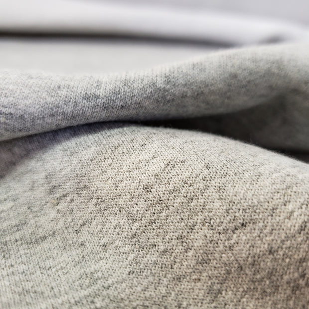 Fleece on 1 side - Cotton / Poly Tubular - Grey on one side - 1/2 meter