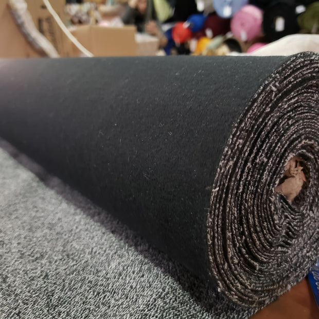 Soft Felt - One Side Blck - 1/2 meter - FABCYCLE shop